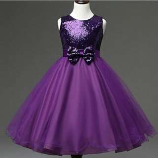 Purple Dress Sequined Knotted Dress