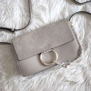 Authentic Chloe Faye Bag in Motty Grey