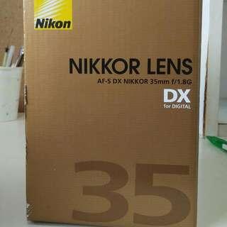Nikon 35mm 1.8 DX (99% New)