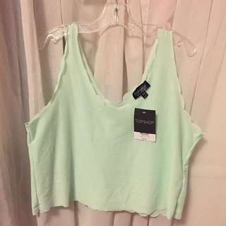 Topshop Mint Tank Top (Size Small)