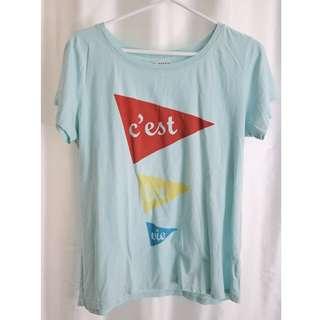 """Anthopologie """"C'est La Vie"""" T-Shirt (66% Off!)"""