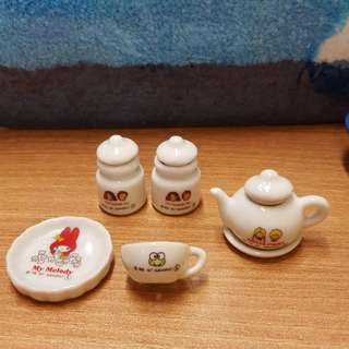 Sanrio 迷你陶瓷5件