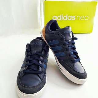 (MEN SHOES) Stripped Blue Adidas Neo Ortholite🌟
