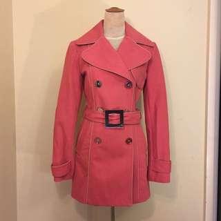 Pierucci Pink Trench coat Size 8 Au