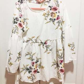 SALE!!! BRAND NEW / BB Floral Free Sized Peplum Babydoll Top