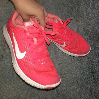 Fluorescent Nike Running Shoes