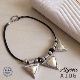 """Kalung Fashion Statement Necklace """"Alyssa"""" A105"""