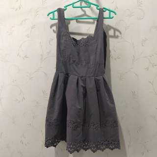 Grey Puffy Dress XS S 6 8