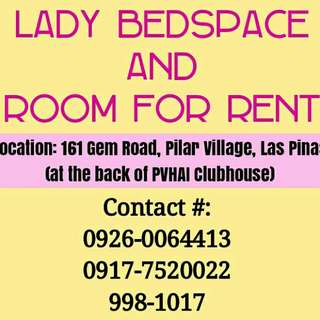 Bedspace and Room For Rent