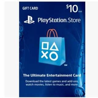 在線秒發【可超商】美國 PSN US$10 美金10元 PSV PS3 PS4 PlayStation