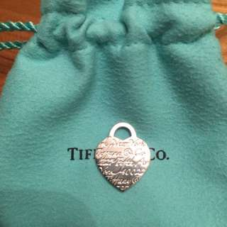 AUTHENTIC TIFFANY NOTES HEART TAG