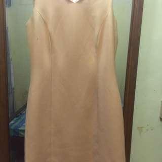 Profile Gold Short Dress Pesta
