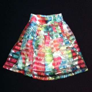 Printed Organza Skirt LUNA HABIT