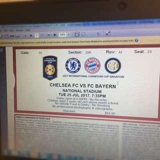 Chelsea Vs FC Bayern - 2 Adult + 1 Child Ticket