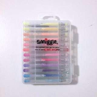 ✨✨Smiggle 24 Pack Mini Gel Pens Neon And Glitter
