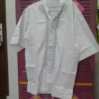Baju Koko Putih Jumbo