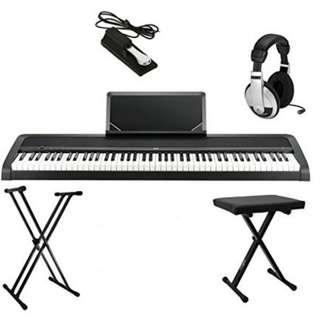 KORG B1 88 Key Digital Piano with X-stand & X-Bench & Headphone (Black)