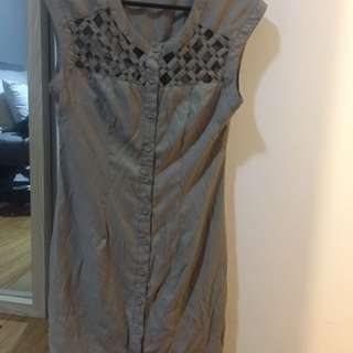Dress Tunic With See Through Detailing