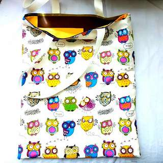 [NEW] [HANDMADE] Owl Print Tote Bag