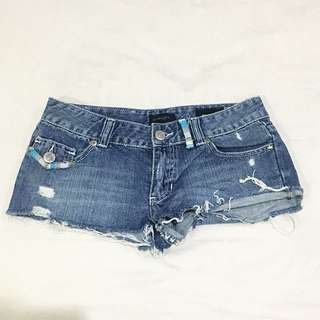 Insight Frayed Denim Shorts