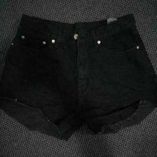 Cheap Monday Black High Waisted Shorts
