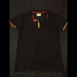 BENCH/ Black Polo Shirt