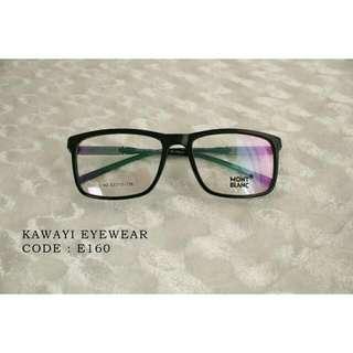 frame glasses E160 (SHINY BLACK)