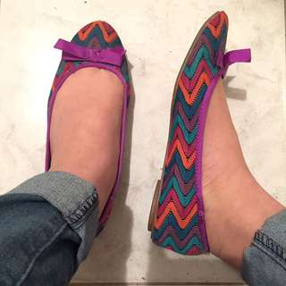 Purple Flats With Bow