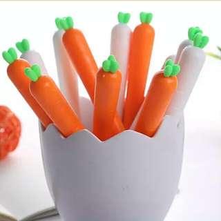 [Instock] Korea Carrot Gel Pen 0.5MM