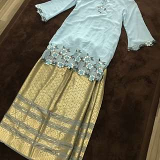 Traditional Malay Baju Kurung Chiffon Thai Silk