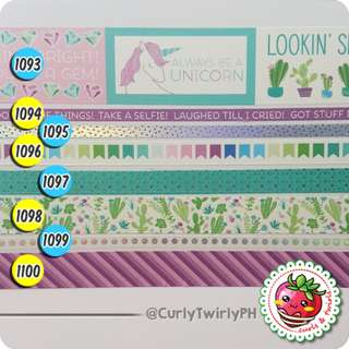 [BATCH #153] Washi Samples - RECOLLECTIONS! Cool Icons/Unicorns/Cactus