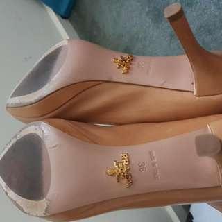 Prada High Heel Tan Shoes Sz36