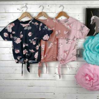 Tie Knot Floral Shirt P120+50 Sf Mnla Only