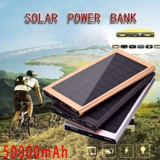 50,000mAh Ultra-thin Polymer  Outdoor Emergency Camping LED Portable Solar Charger