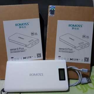 Original Romoss Sense 6 Plus Powerbank