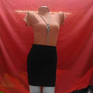 Turtle Neck Top & Pencil Skirt