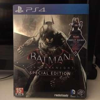 Ps4 Batman Arkham Knight Special Edition Steel Casing