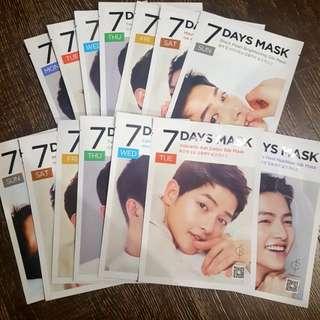 7 x Song Joong Ki : 7 Days Masks