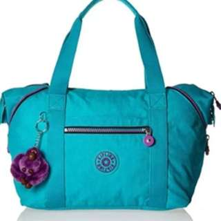 Kipling art u tote light turquoise