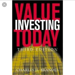 Value Investing Today 3rd edition