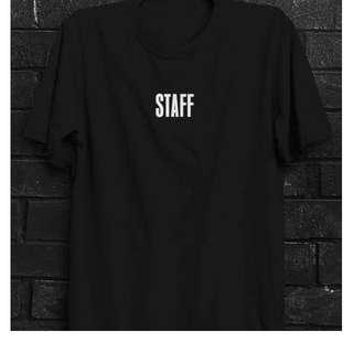 """JUSTIN BEIEBER """"Purpose Tour"""" Offical """"Staff"""" T-shirt Merchandise"""