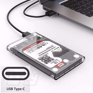 ($21.90) ORICO 2.5 inch Type-C USB C External Hard Drive Disk HD Enclosure Case Cover SATA HDD and SSD [Optimized For SSD, Support UASP SATA III] Tool Free Transparent (Mac, PC, Desktop, Notebook)