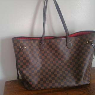 Used Louis Vuitton GM Neverfull damier Ebene