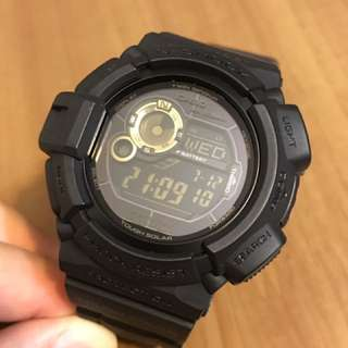 Casio G-Shock G-9300B Mudman 黑金泥人