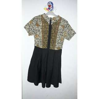 Dress Batik - Hitam Kuning Gold