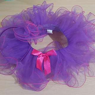 Purple Tutu paired with Head Dress