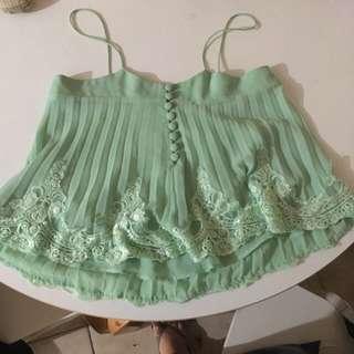 Bardot Green Top
