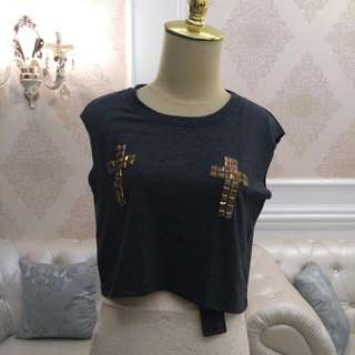 FREESIZE CROSS TOP BY DOLLY BABE