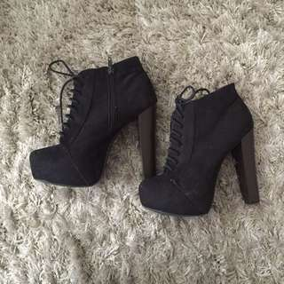 Black High Heel Booties