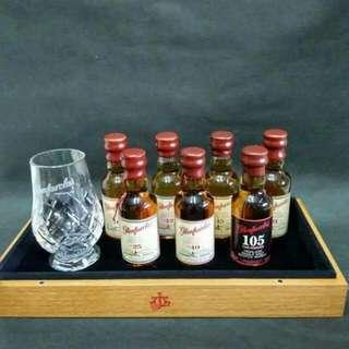 格蘭花格威士忌酒辦50ml連水晶酒杯木盒限量版